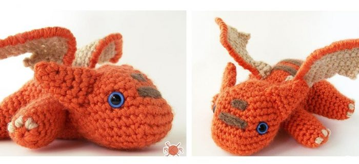 Baby Dragon Crochet Toy | thecrochetspace.com