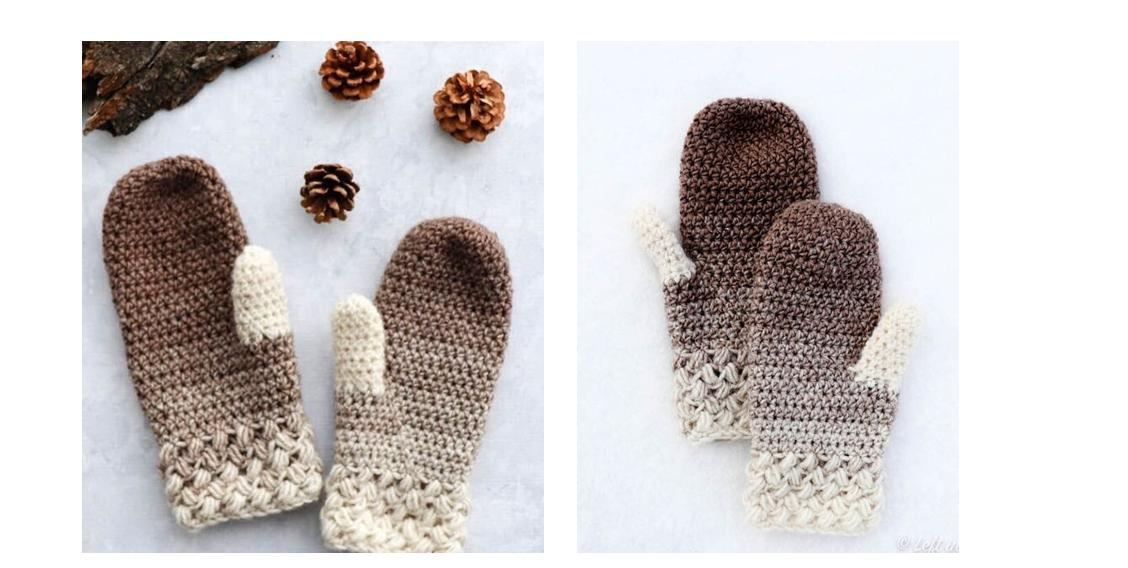 Crocheted Coffee Bean Mittens | thecrochetspace.com
