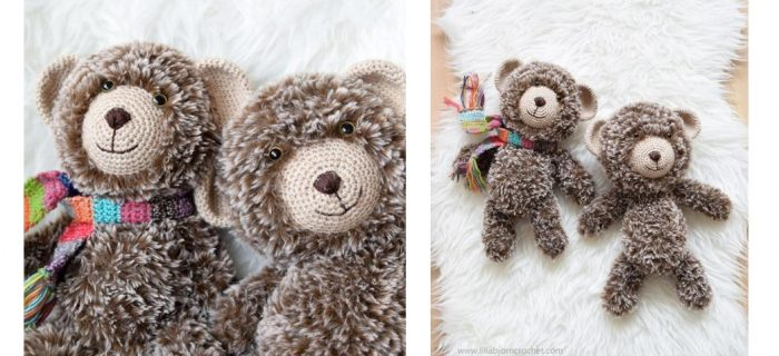 Crocheted Furry Baby Bear | thecrochetspace.com