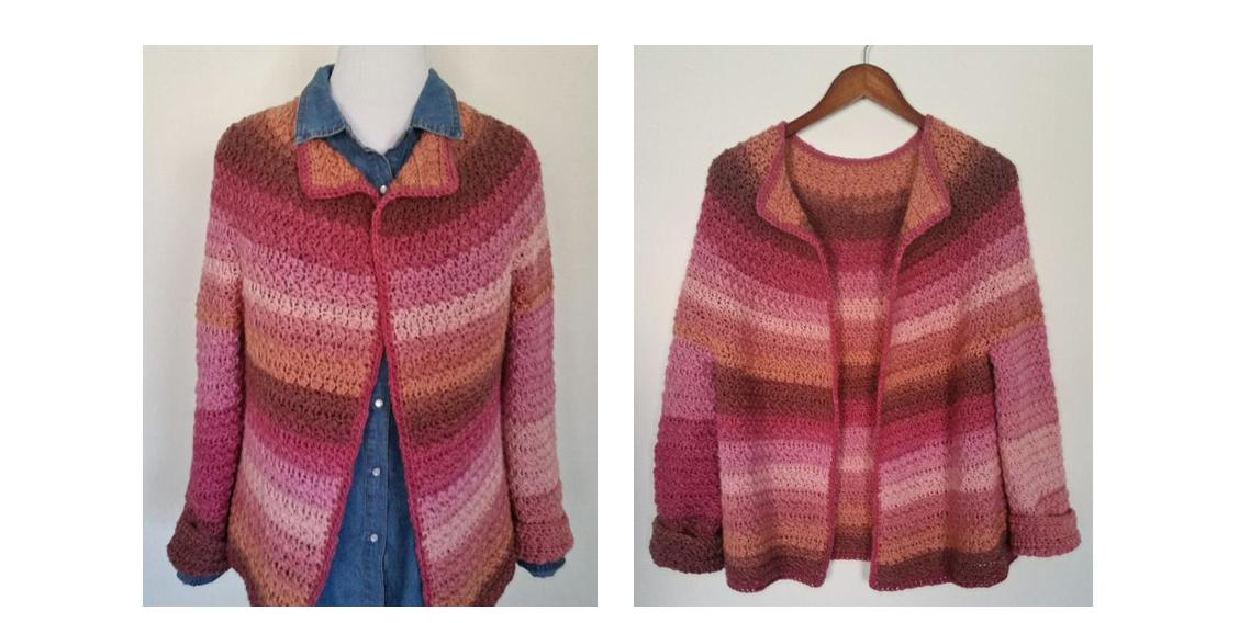 Comfortable Crocheted Daybreak Cardigan | thecrochetspace.com