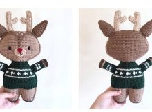 Crocheted Holiday Deer Buddy | thecrochetspace.com