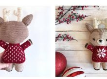Crocheted Holiday Deer Delilah | thecrochetspace.com