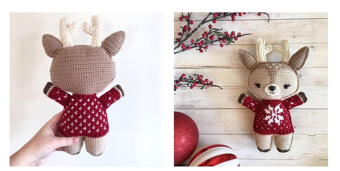 Crocheted Holiday Deer Delilah   thecrochetspace.com