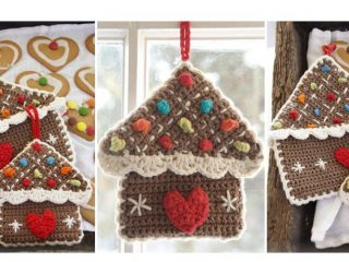 Crocheted Gingerbread Pot Holders | thecrochetspace.com