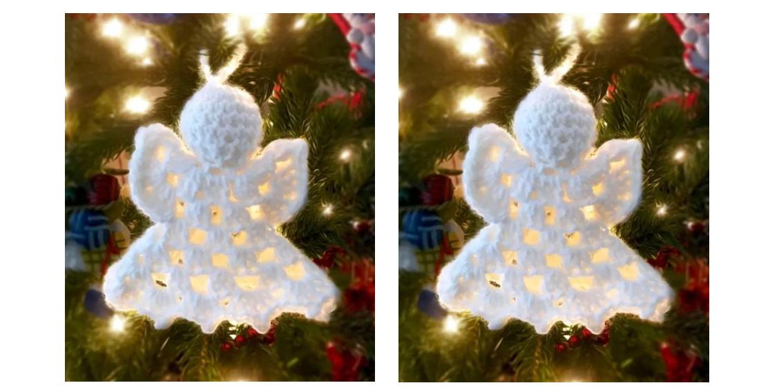 Easy Crochet Angel Ornament | thecrochetspace.com