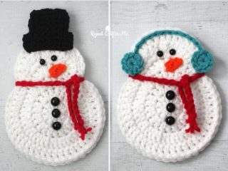 Easy Crochet Snowman Decoration | thecrochetspace.com
