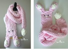 Best Bunny Finger Scarf | thecrochetspace.com