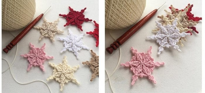 Frost Woven Crochet Snowflakes | thecrochetspace.com