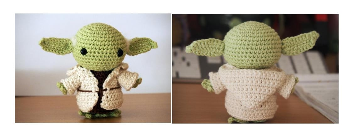 Sweet Yoda Amigurumi Free Crochet Patterns | 438x1127
