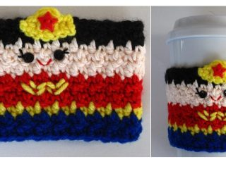 Wonder Woman Crochet Cozy | thecrochetspace.com