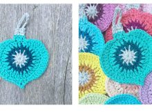 Vintage Holiday Crochet Ornament | thecrochetspace.com