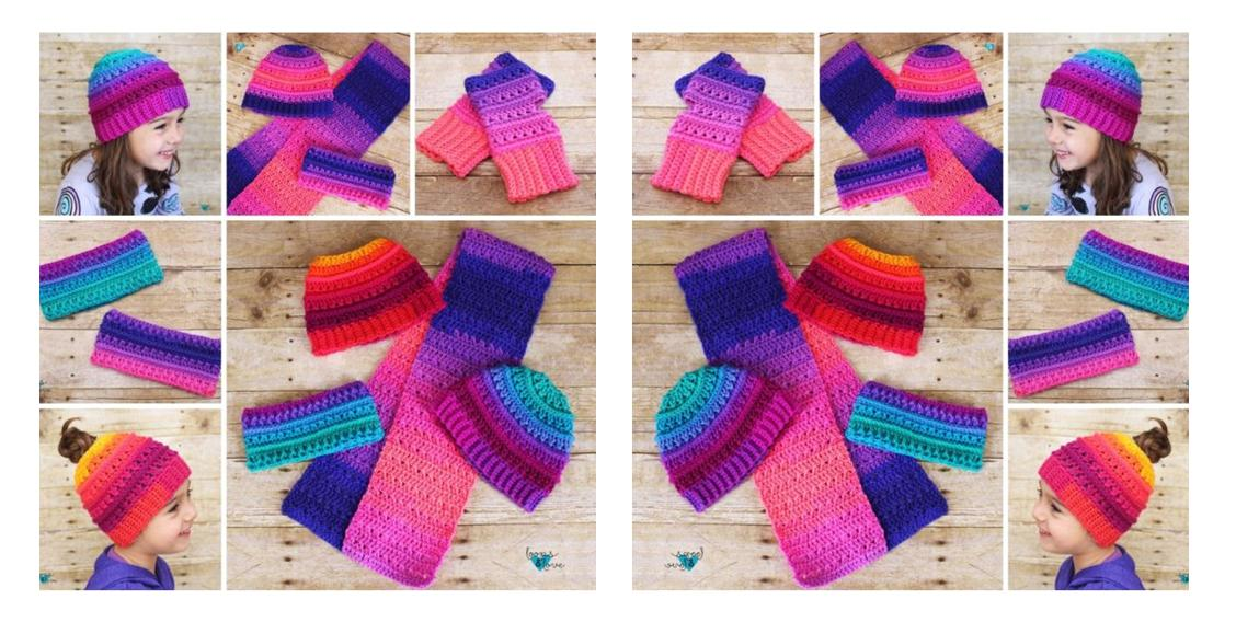 Winter Criss-Cross Crochet Set | thecrochetspace.com