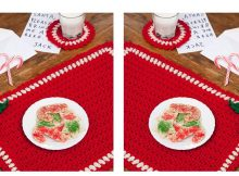 Holiday Crochet Placemat Set | thecrochetspace.com