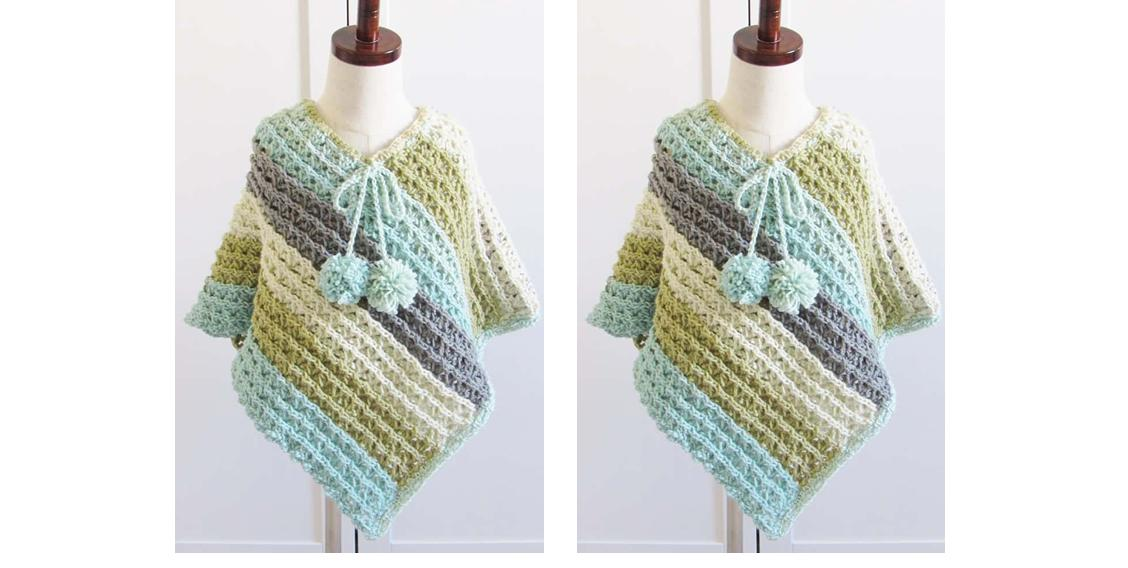 Child's Crochet Sea-Breeze Poncho | thecrochetspace.com