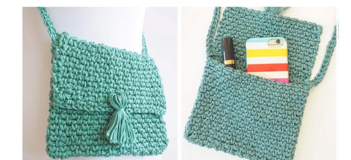 Crochet Cross Body Bag | thecrochetspace.com