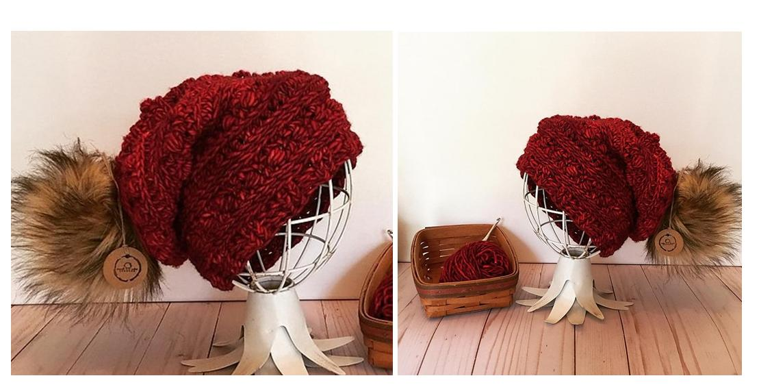 Sequoia Crochet Slouch Beanie | thecrochetspace.com