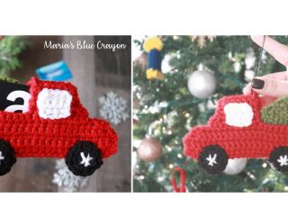 Crocheted Seasonal Red Truck | thecrochetspace.com