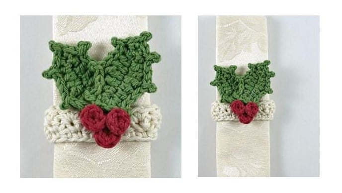 Seasonal Crochet Napkin Ring | thecrochetspace.com