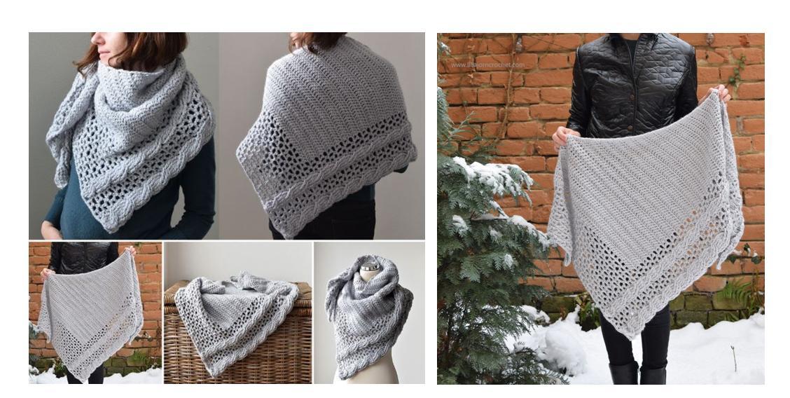 Living Lagom Crochet Shawl | thecrochetspace.com
