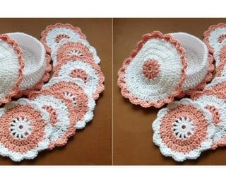 crochet coaster basket | the crochet space