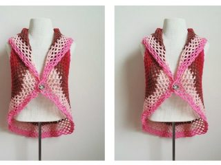 Posies Crocheted Adult Vest | thecrochetspace.com