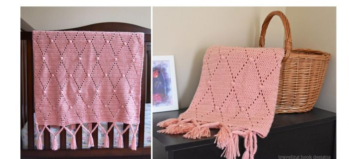 Di And Dot Easy Crocheted Baby Blanket | thecrochetspace.com