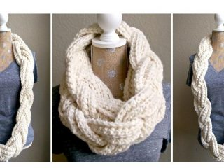 Crocheted Braided Infinity Scarf   thecrochetspace.com