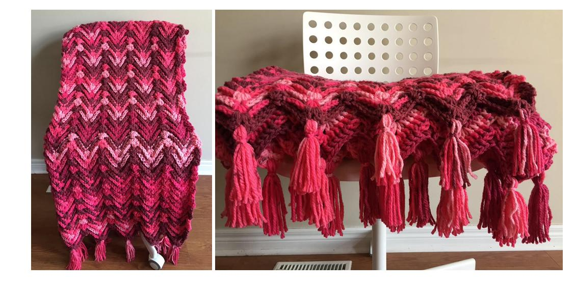 Passionate Waves Crochet Throw1 thecrochetspace.com