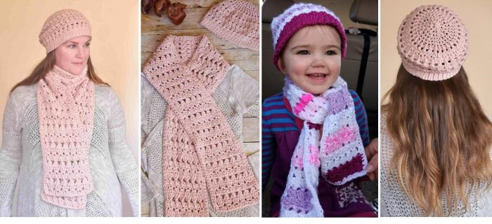 Winter Blush Crochet Combo | thecrochetspace.com
