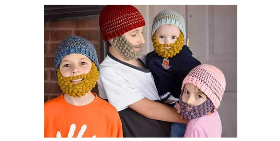 Easy Crochet Bobble Beard |thecrochetspace.com