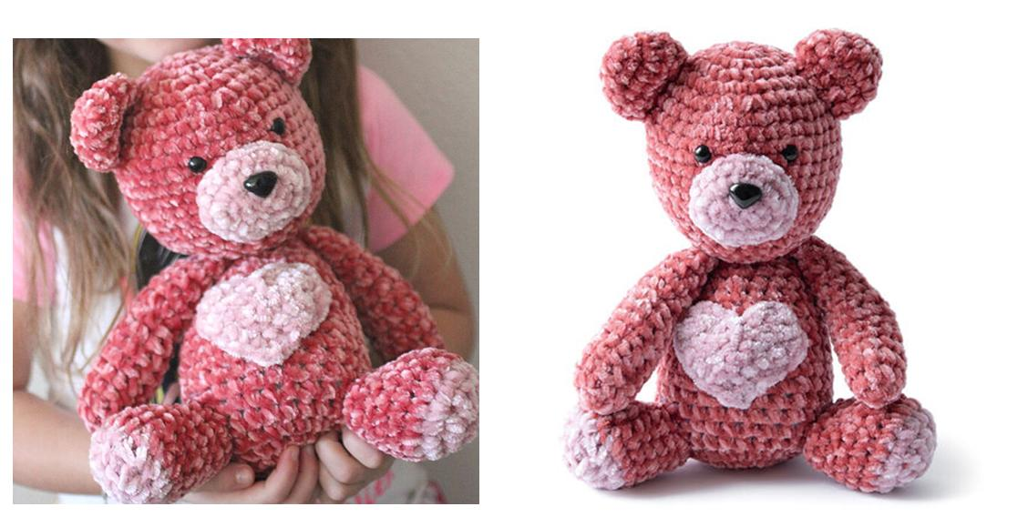 25 Free Crochet Teddy Bear Patterns - Crochet Patterns • DIY & Crafts | 568x1128
