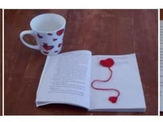Easy Crocheted Heart Bookmark | thecrochetspace.com