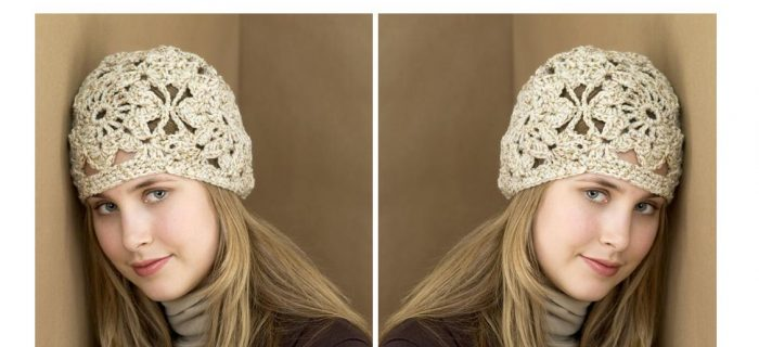 Lace Retro Crochet Hat | thecrochetspace.com