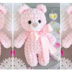 Crochet Plush Teddy Bear |thecrochetspace.com