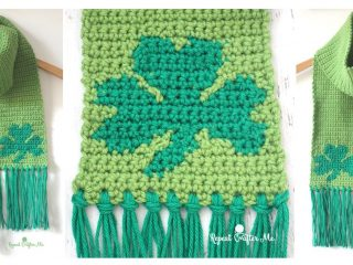 Crochet Graphghan Shamrock Scarf | thecrochetspace.com
