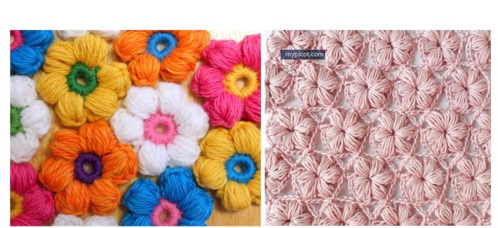 Crochet Flower-Puff Stitch | thecrochetspace.com
