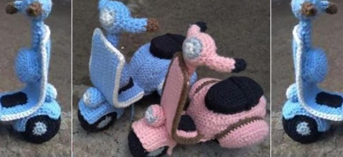 Awesome Amigurumi Vespa Scooter | thecrochetspace.com