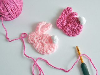 Quick Bunny Crochet Applique | thecrochetspace.com