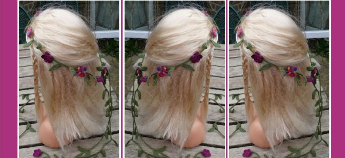 Pretty Crochet Hair Garland || thecrochetspace.com