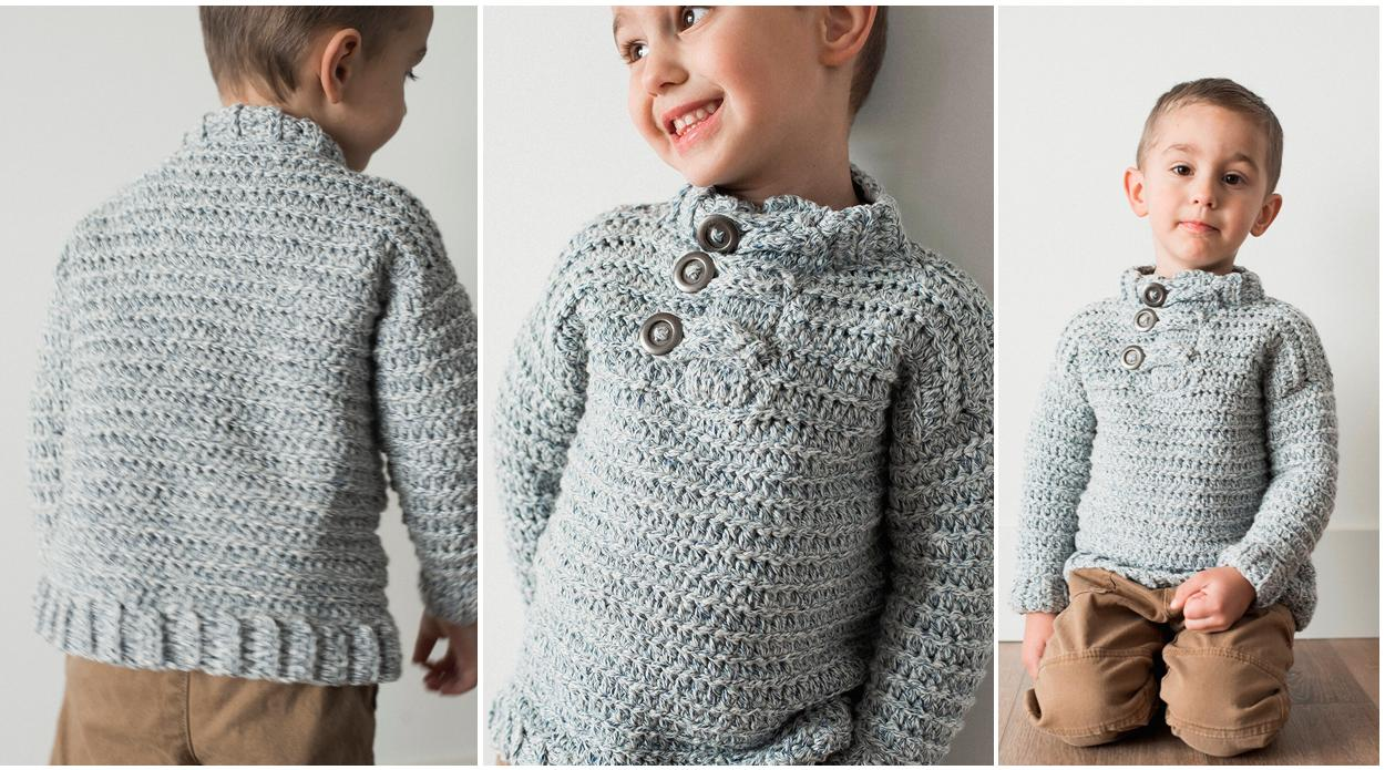 Easy Toddler Crochet Sweater || thecrochetspace.com