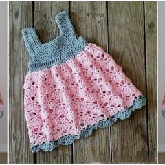 Falling Fans Crochet Dress || thecrochetspace.com