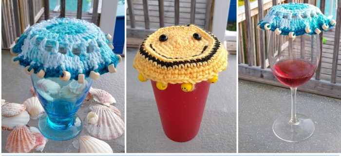 Crochet Glass Cover Duo | thecrochetspace.com