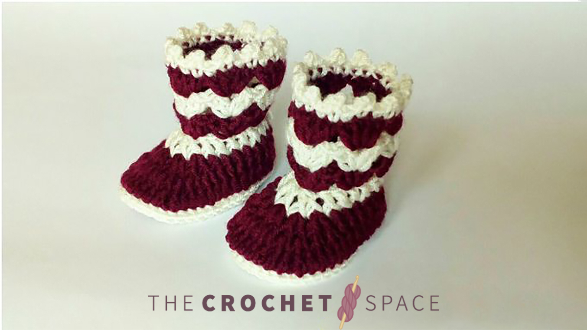 60 minutes Crochet Baby-Booties    thecrochetspace.com