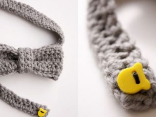 Textured Crocheted Bow Tie || thecrochetspace.com