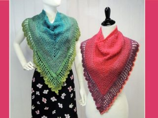Stylish Juliette Crocheted Shawl | the crochet space