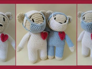 Nursing Care Crochet Bear |thecrochetspace.com