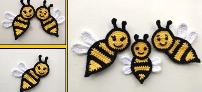 Beautiful Crochet Bee Applique | thecrochetspace.com