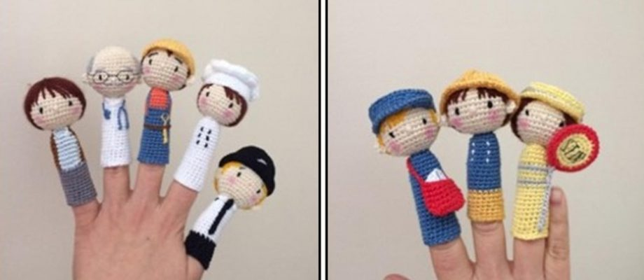 Crochet Finger Puppets Great For Making Stories Come To Life [FREE Pattern]