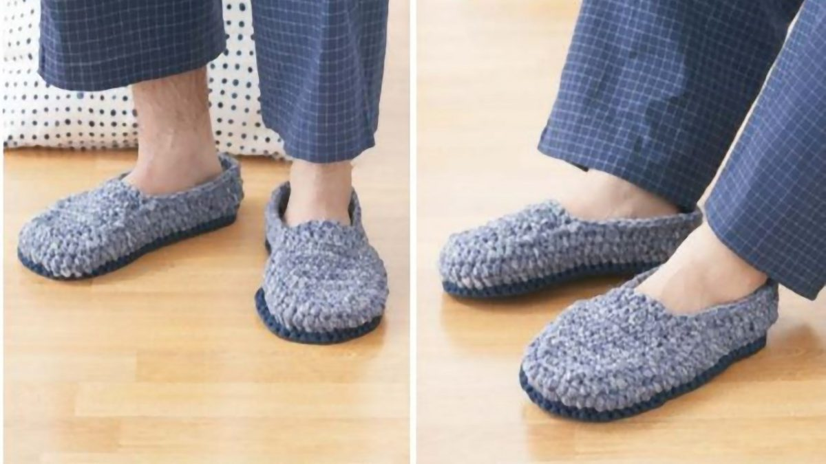 Crochet Men S Slippers Free Pattern The Crochet Space