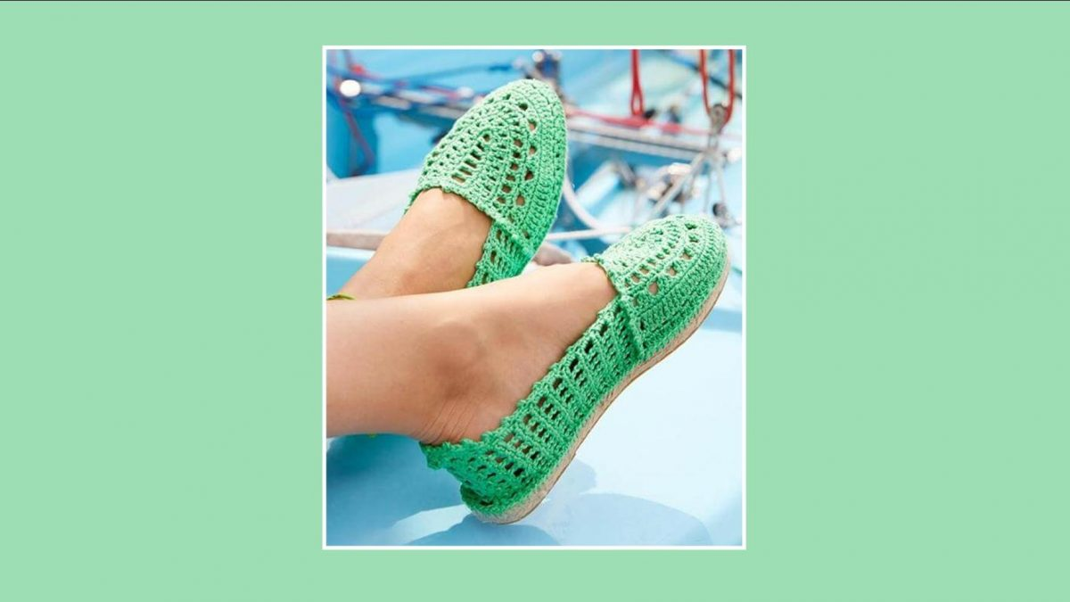 Fabulously Fun Crocheted Espadrilles | the crochet space